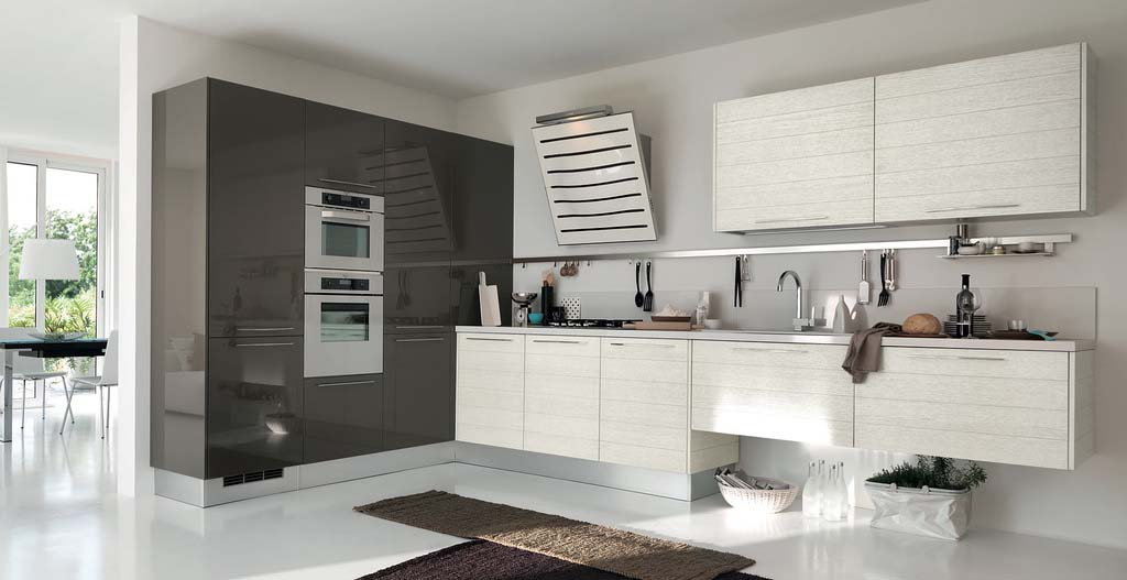 Image of: Grey and White Kitchen