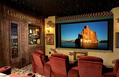 Italian-Themed Home Theater