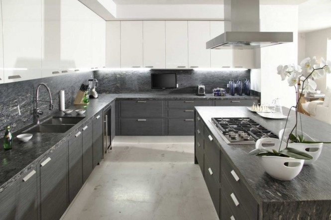 Image of: Mexican Grey White Kitchen