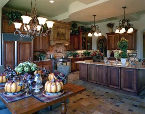 Image of: Tuscany Style Kitchen Decorating Ideas