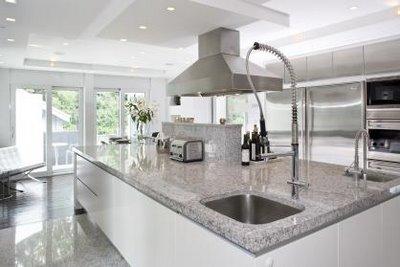 Image of: White and Grey Kitchen Design