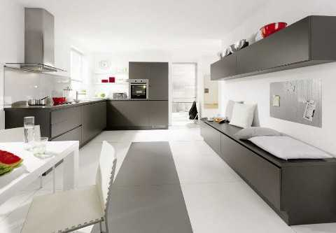 Image of: White and Grey Kitchen Idea