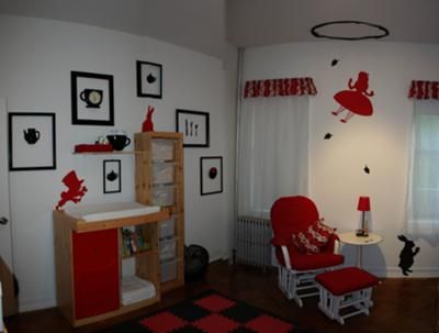 Image of: alice in wonderland nursery theme