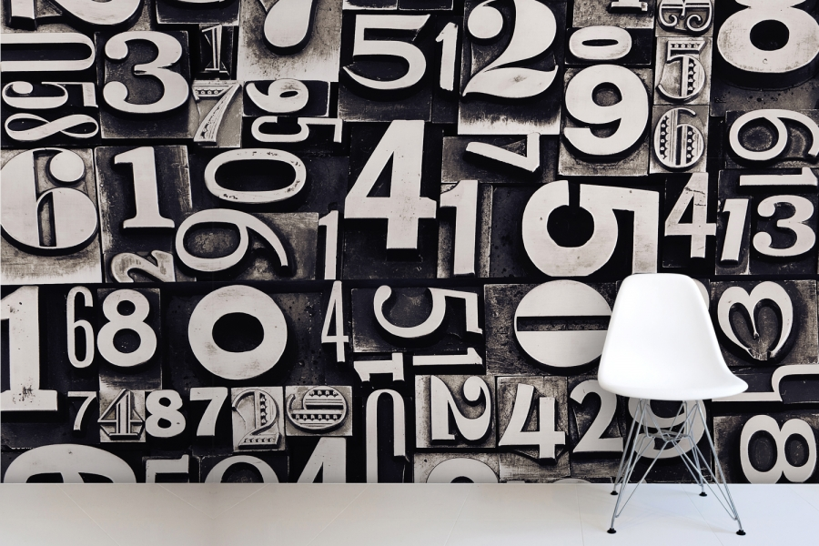 Image of: black and white wall letter art design
