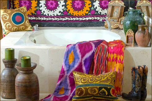 bohemian style decor for bathroom