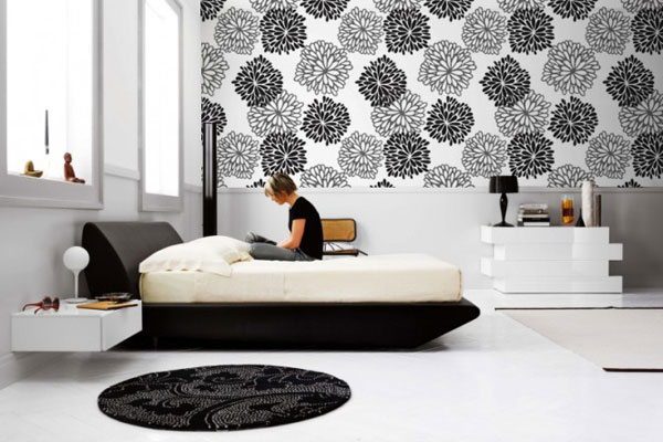 Image of: cool black and white wall sticker design
