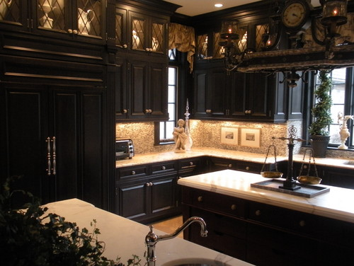 Image of: gothic kitchen apartment ideas