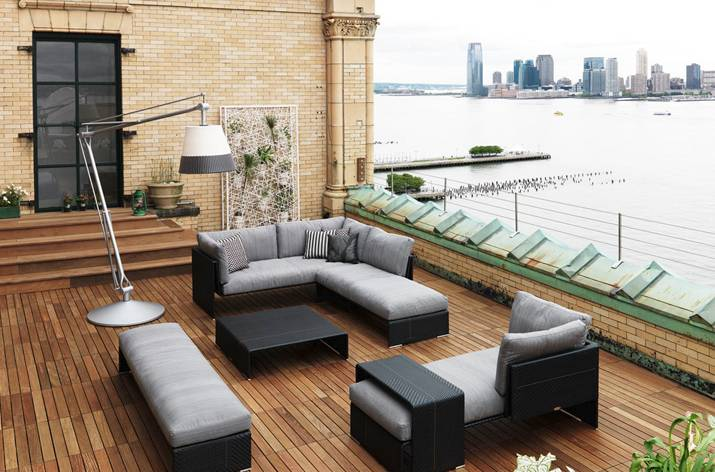 Image of: patio ideas with wooden flooring