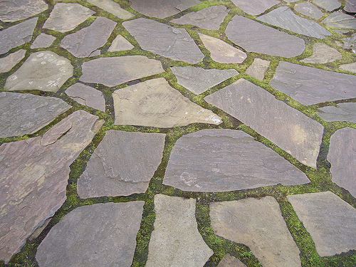 Image of: stone for patio flooring ideas