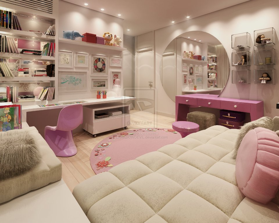 Image of: Awesome Girl Bedrooms Ideas