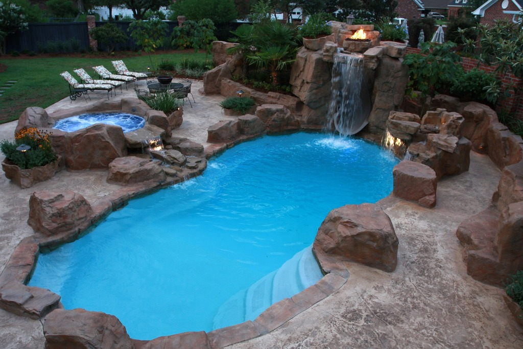 Image of: Backyard Swimming Pools Designs