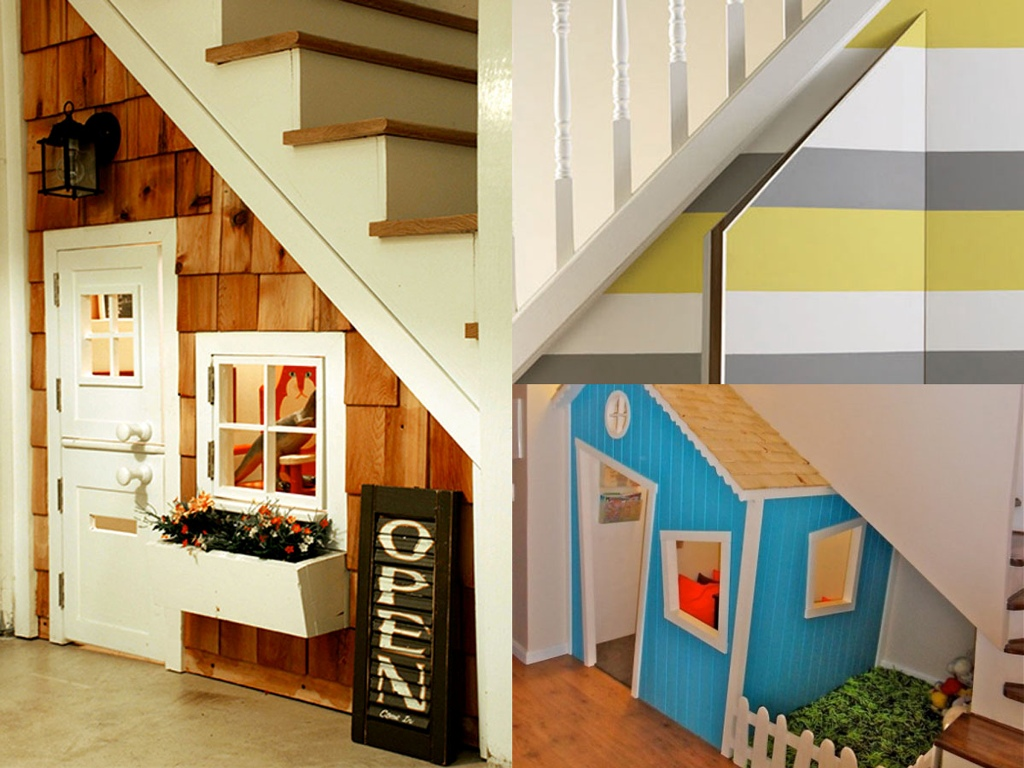 Image of: Bar Tops For Space Under Stairs