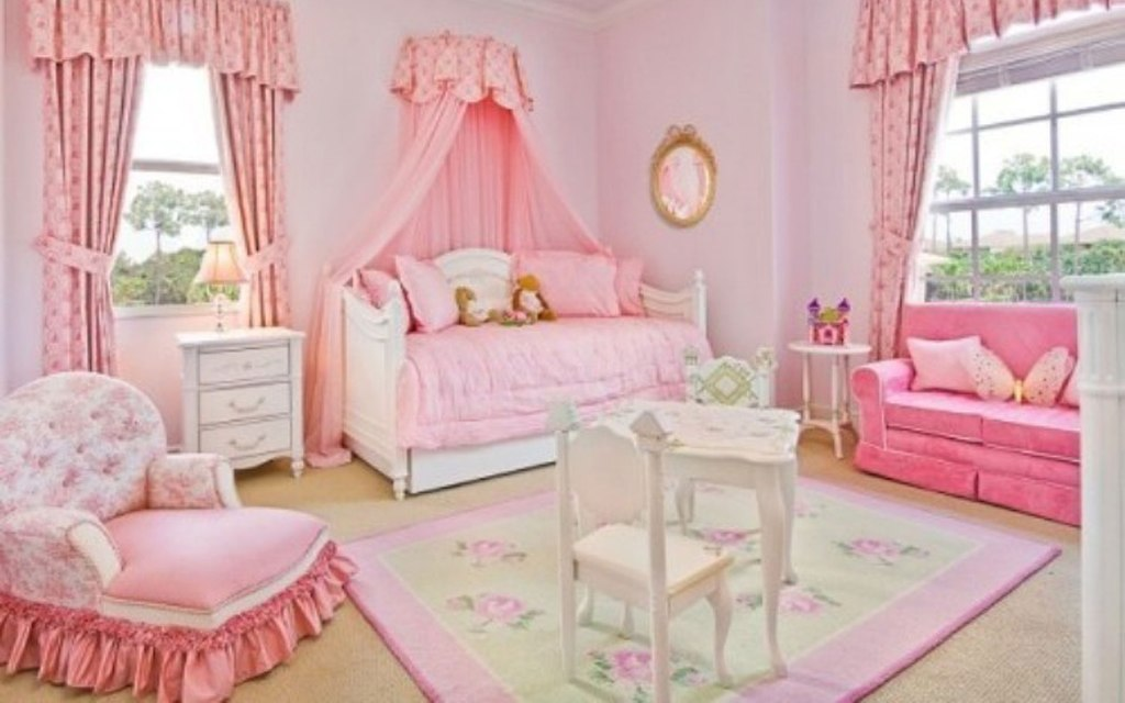 Image of: Best Pink For Girls Room