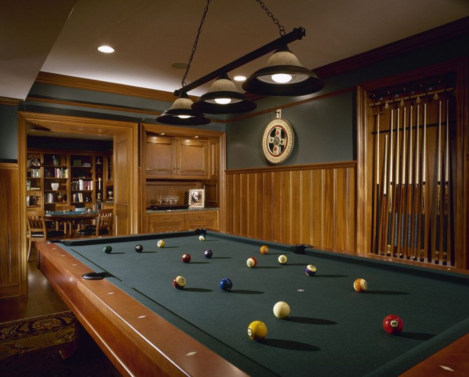 Image of: Billiard Room Decorating Ideas