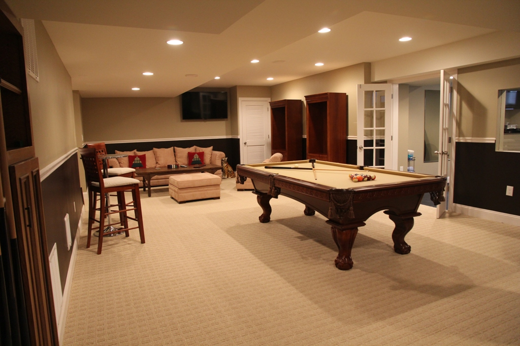 Image of: Billiard Room Decorations
