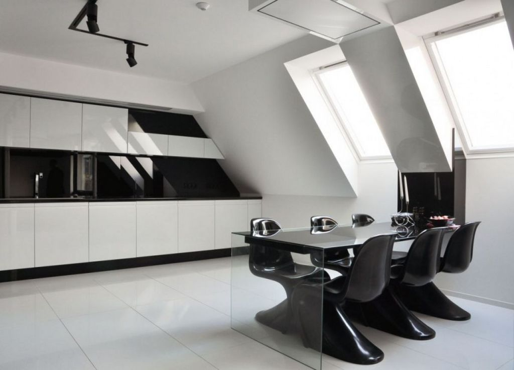 Image of: Black And White Kitchen Decorating