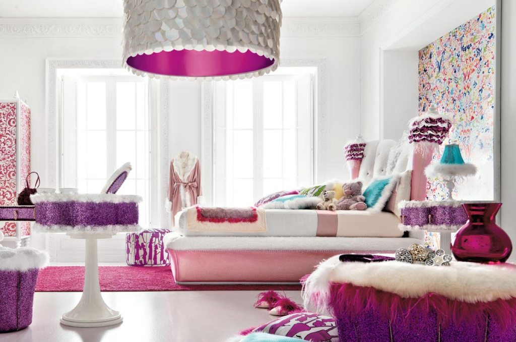 Image of: Blue And Pink Girls Room