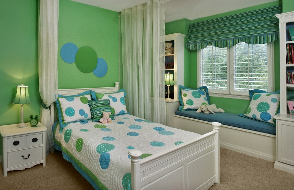 Image of: Blue Green And White Curtains