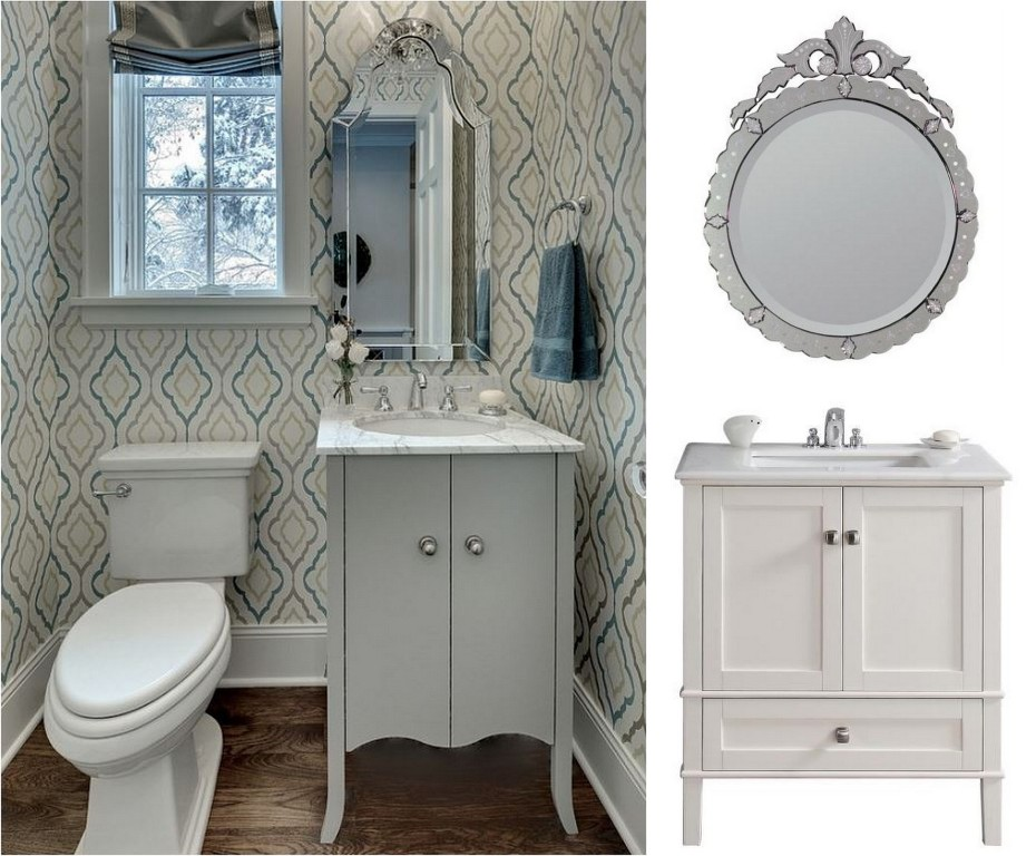 Image of: How To Decorate A Bathroom Mirror