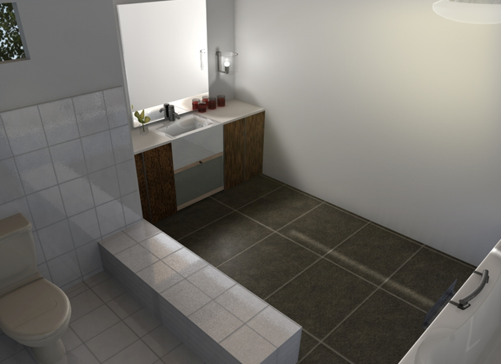 Image of: How To Decorate A Bathroom Wall