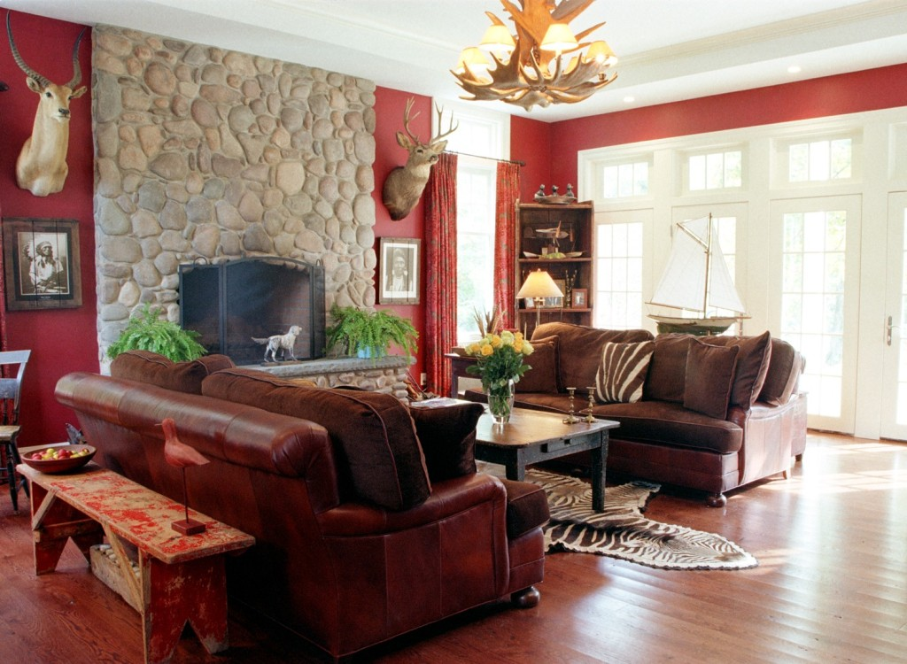 Image of: How To Decorate Living Room With Fireplace