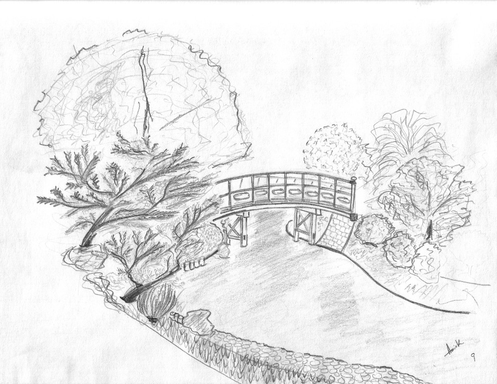 Image of: Landscape Drawings In Pencil