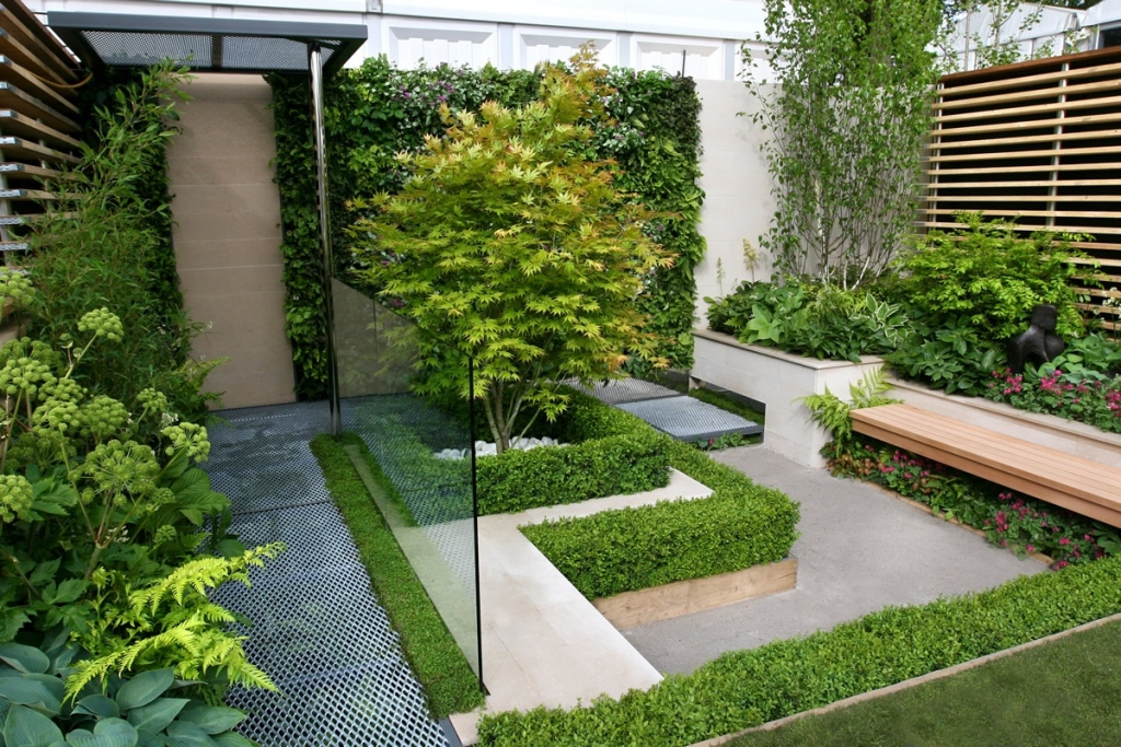 Image of: Landscaped Gardens Designs