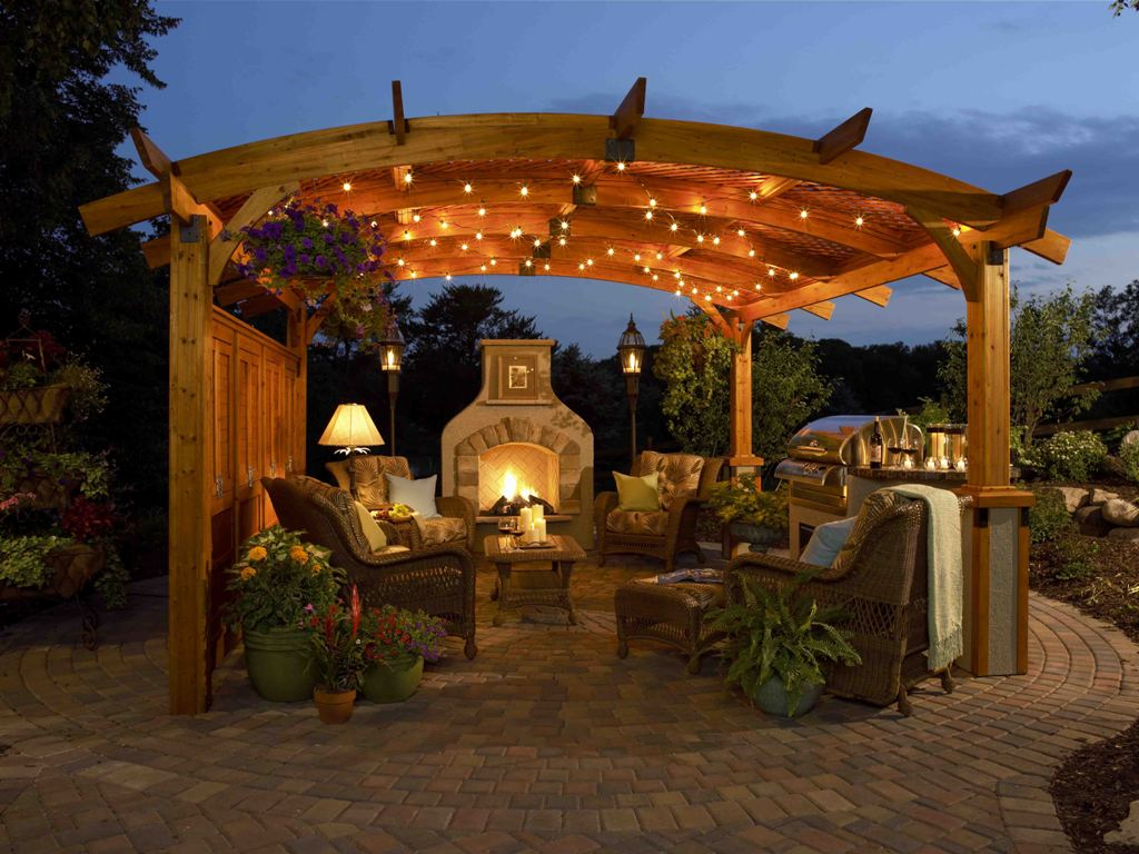 Image of: Outdoor Living Room Design