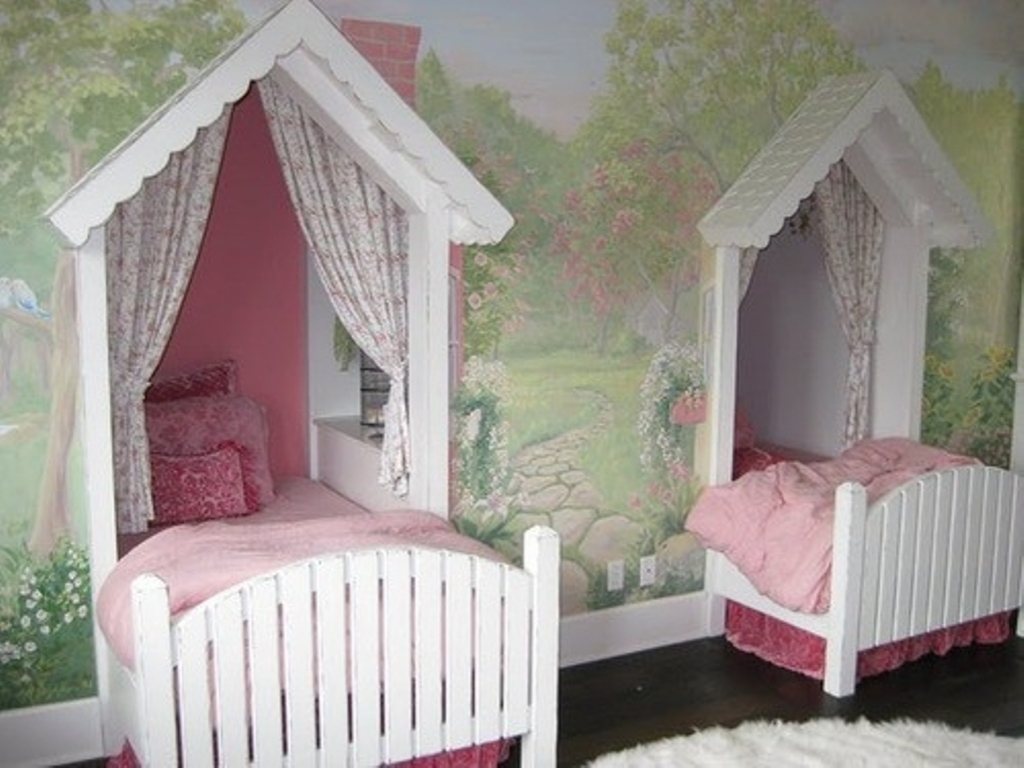 Image of: Twin Girls Room Ideas