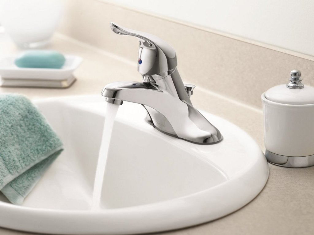 Image of: Chrome Bathroom Faucet