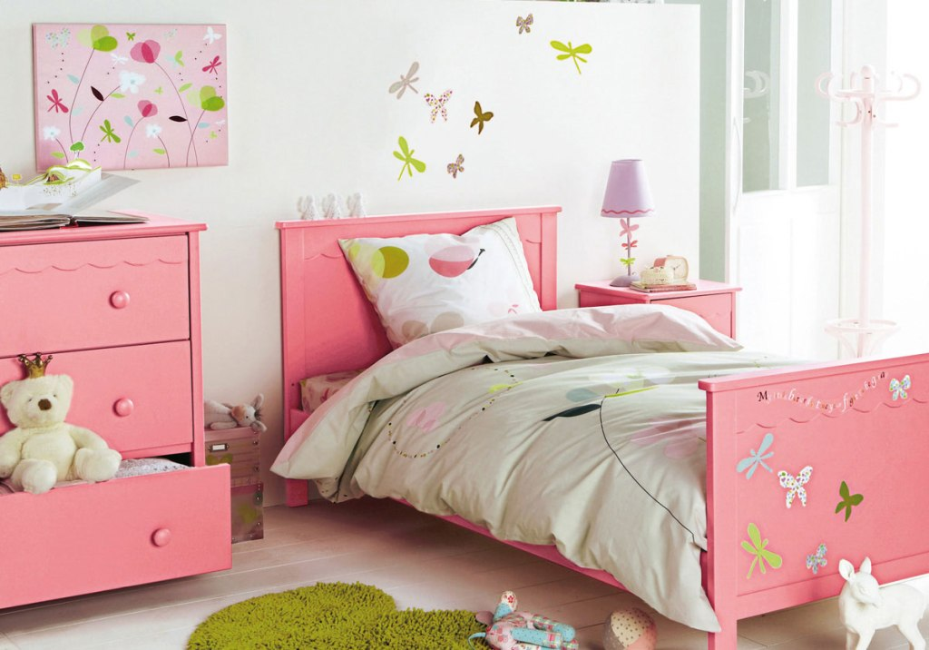 Image of: Decorate Bedroom Pink Blue And Green