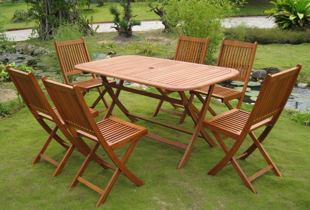 Image of: Folding Patio Dining Sets
