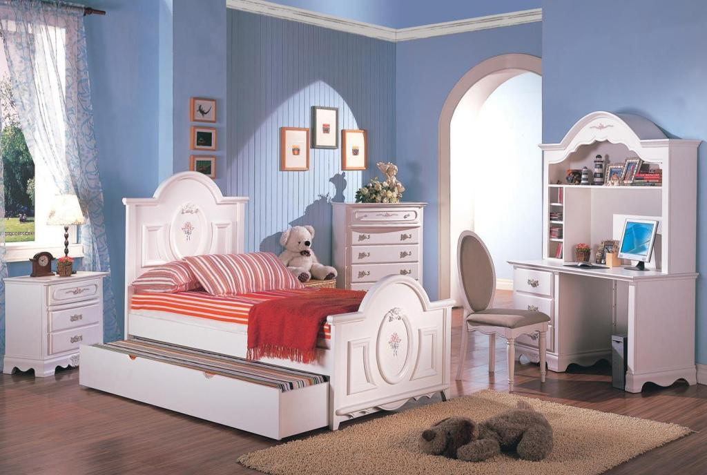 Image of: Green Blue And Pink Girls Bedroom Set Ideas