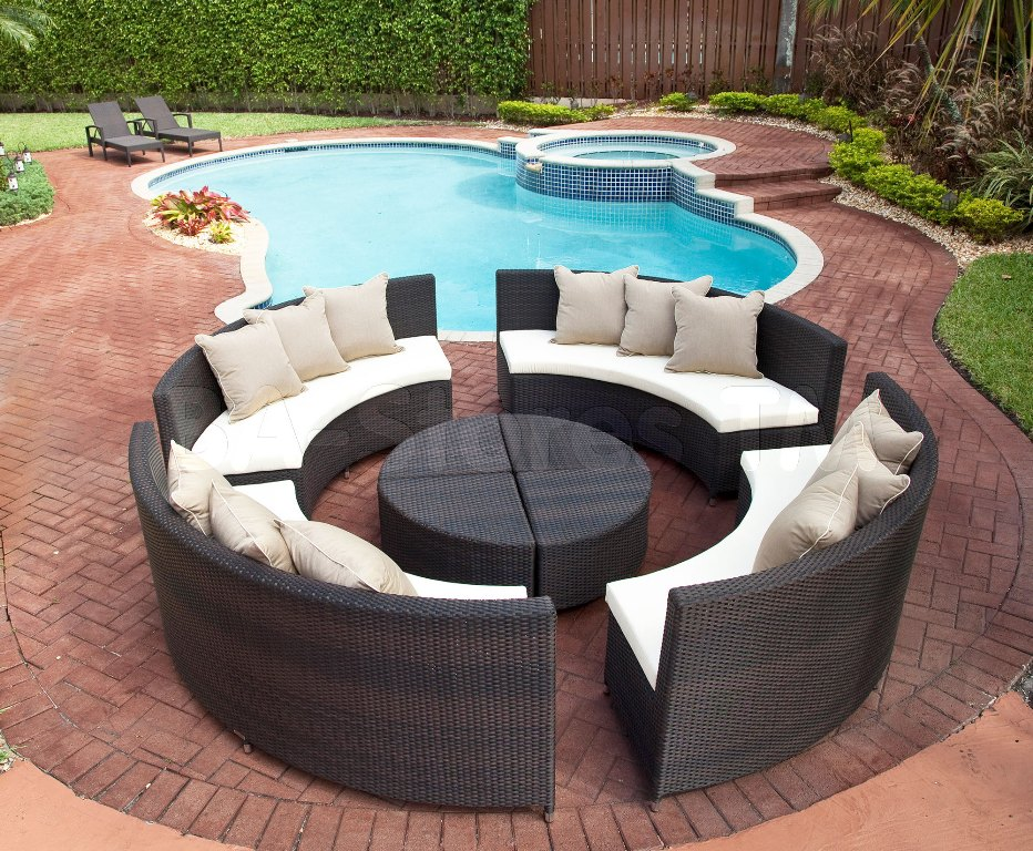 Image of: Outdoor Aluminum Seating Furniture
