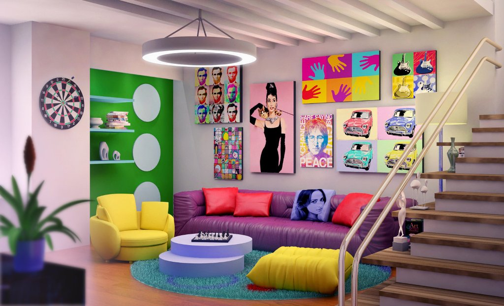 Image of: Pop Art Furniture