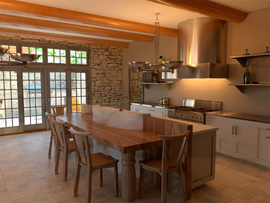 Image of: Rustic Italian Kitchen Cabinets