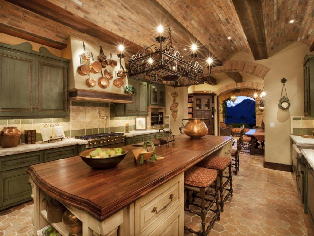 Image of: Tuscan Kitchen Design Photos