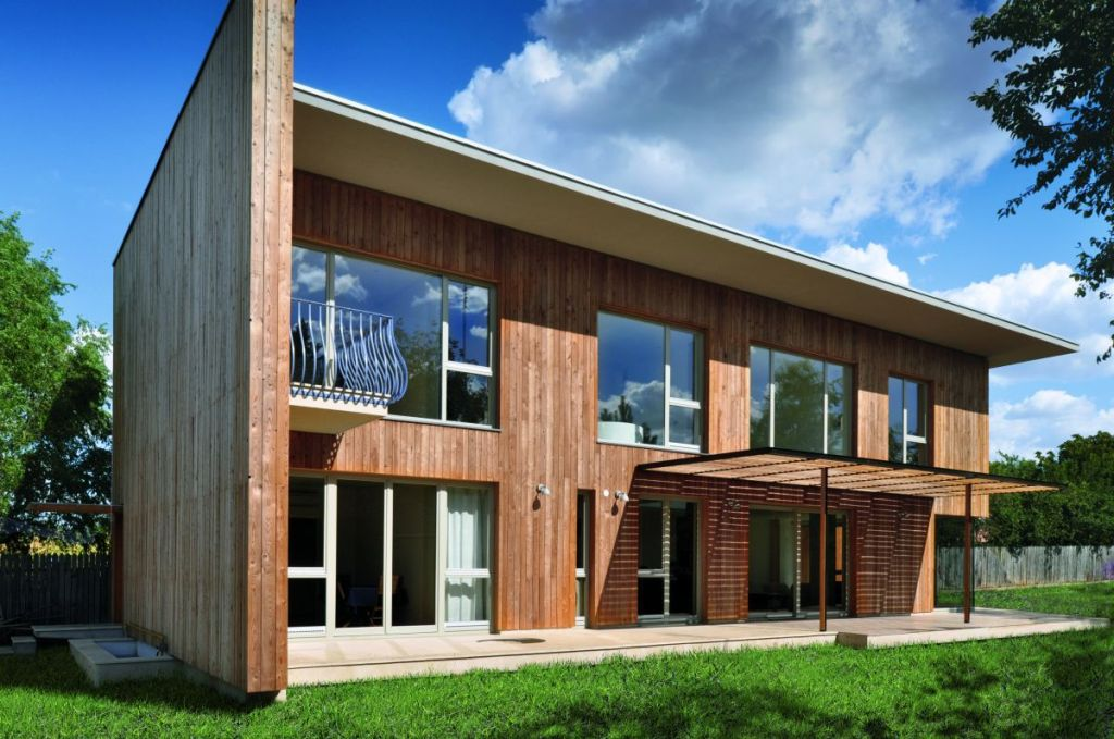 Image of: Wooden House Designs Photos