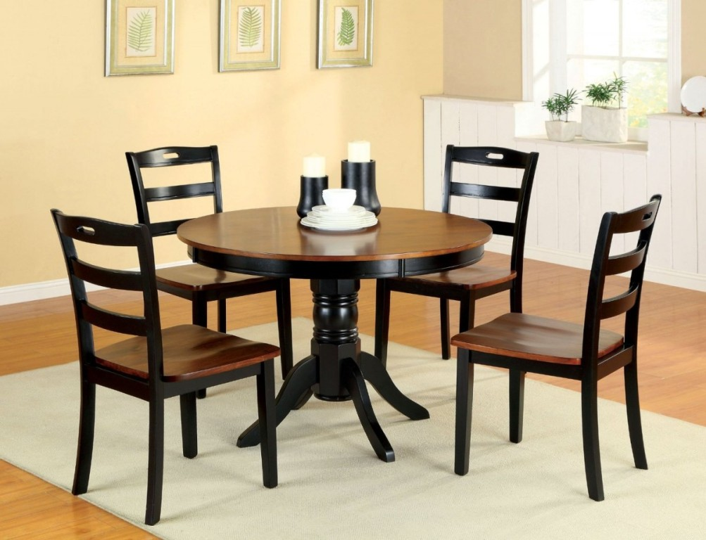 Image of: Compact Dining Table And Chairs