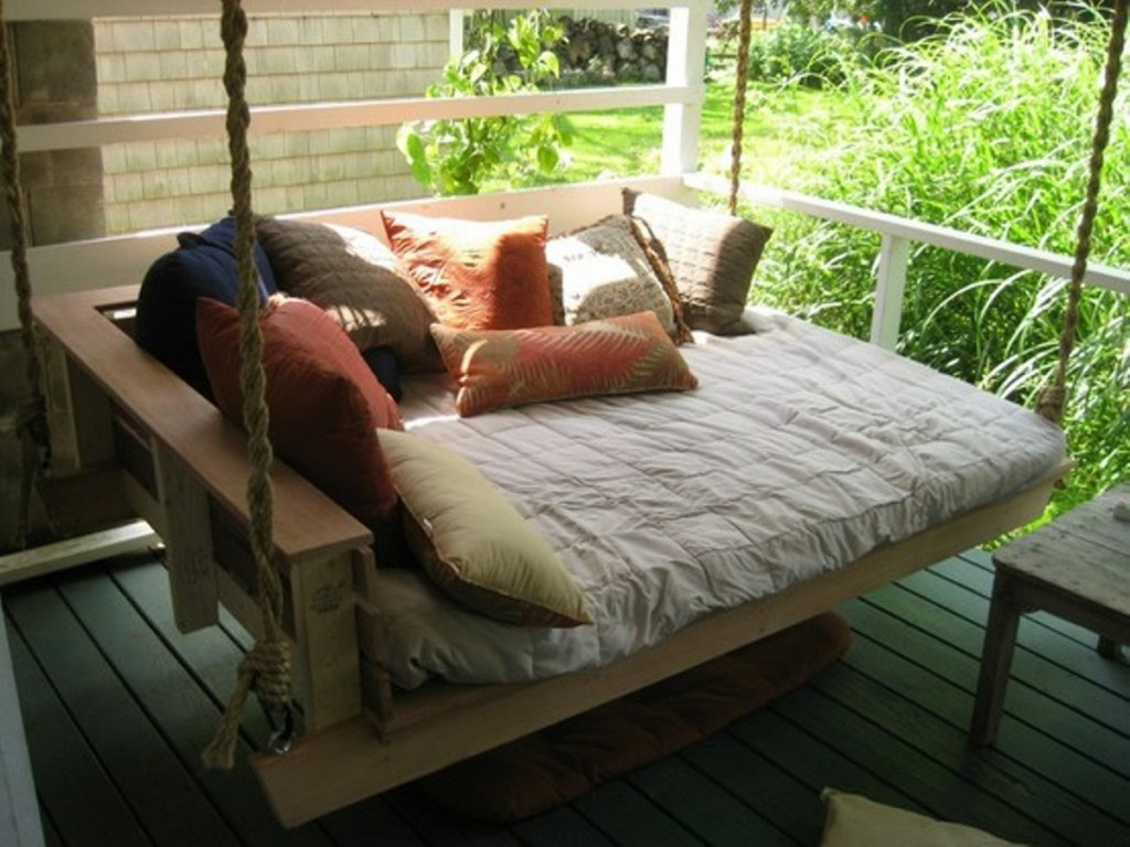 Image of: Hanging Lounger Bed