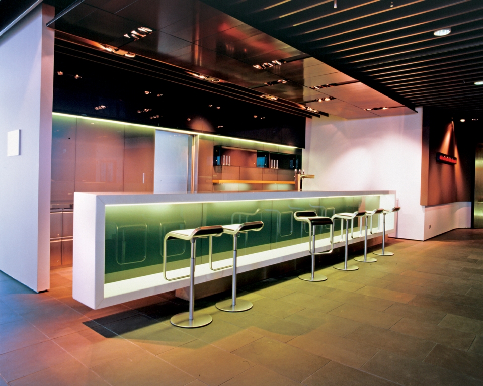 Image of: Modern Black Corner Home Bars