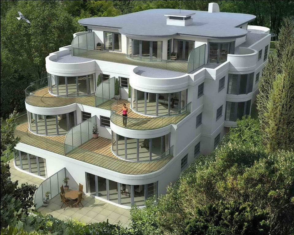 Image of: Modern House Plans For Narrow Lots