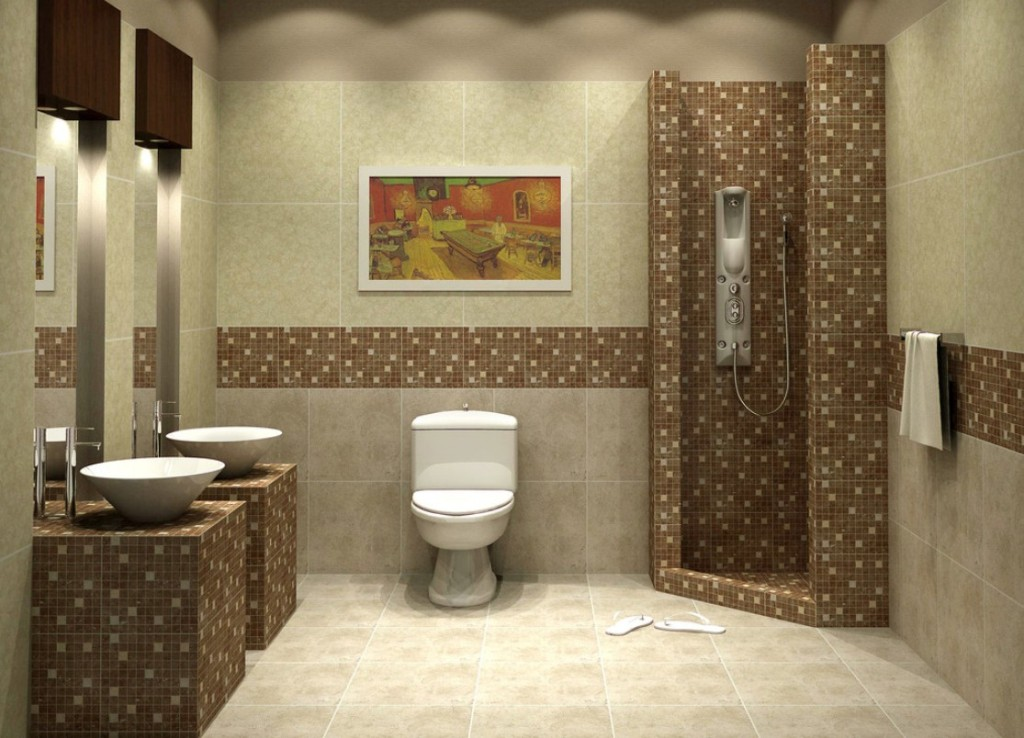 Image of: Mosaic Bathroom Designs