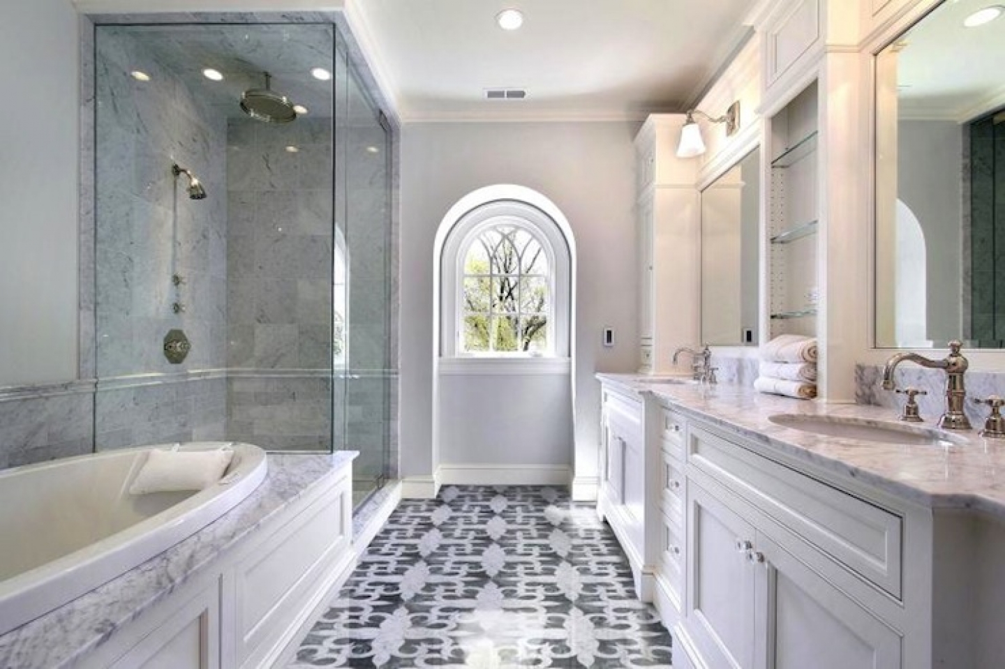 Image of: Mosaic Tile Designs Bathroom