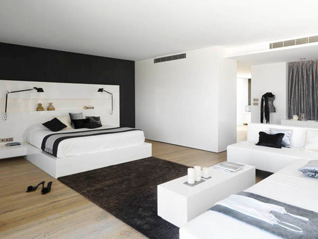 Image of: Charming White Bedroom Design Ideas