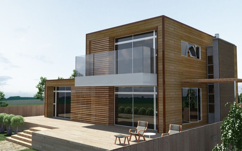Image of: Wooden House Design Architecture