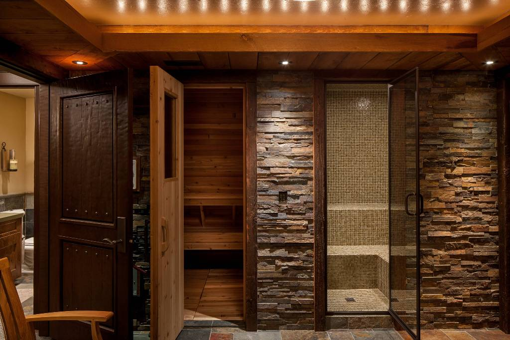 Image of: Sauna Glass Door