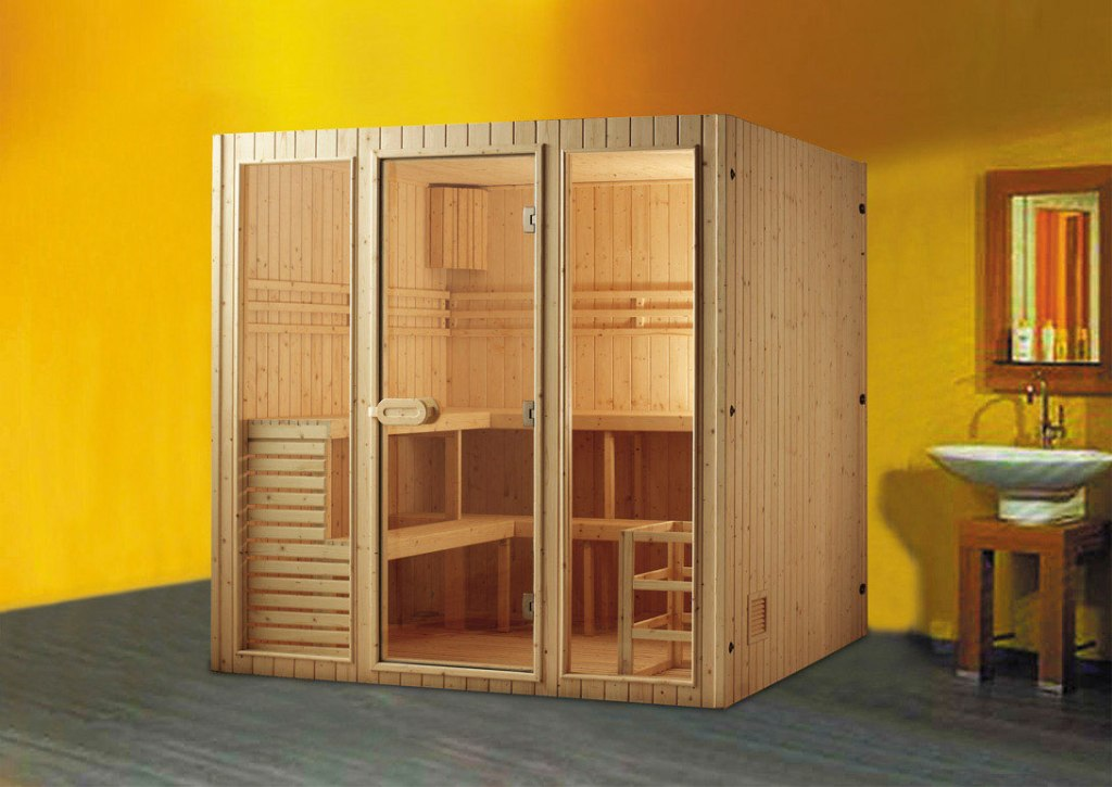 Image of: Sauna Glass Doors Design