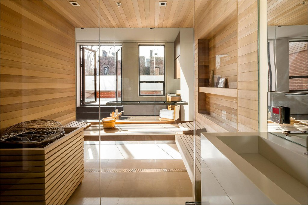 Image of: Sauna Glass Doors Ideas