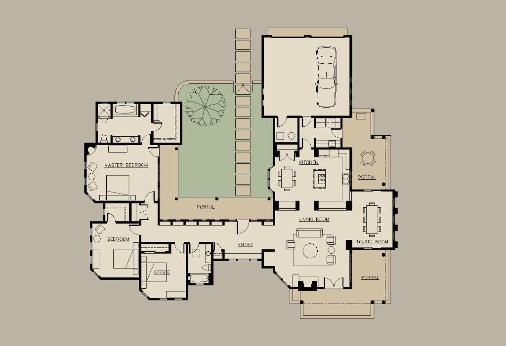 Image of: Shaped House Plans